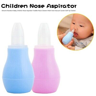 Silicone Newborn Baby Children Nose Aspirator Toddler Cleaner Infant Snot Vacuum