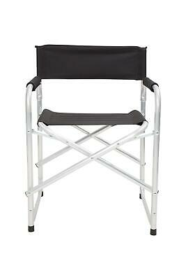 Mountain Warehouse Lightweight Directors Compact Chair Folds Away in Black