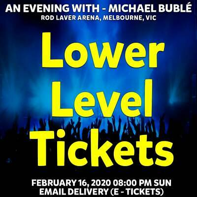 Michael Buble | Melbourne | Lower Level Tickets | Sun 16 Feb 2020