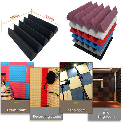 1-20PCS Acoustic Foam Panel Sound Stop Absorption Sponge Studio KTV Soundproof