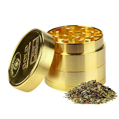 4-Layers Herb Grinder Spice Tobacco/Weed Smoke Metal Crusher Leaf Design 40MM