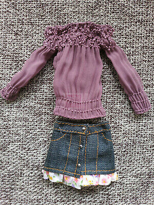 High-quality Cute purple&Blue Dress&Clothes for 1/6(11.5inch) BJD Doll