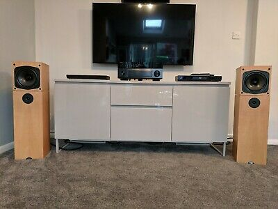 Naim Credo 2 way 90w Loudspeakers Beech Amazing sound Made in the UK Shipped