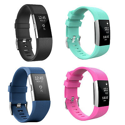 Replacement Silicone Watch Wrist Sports Band Strap For Fitbit Charge 2  BE