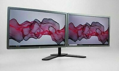 "DUAL SCREEN TFT SET WITH STAND FOR PC HOME OFFICE 2 x 22"" FULL HD 1920x1080  B"