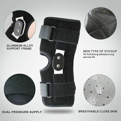 Aluminium Double-Hinged Knee Brace Support Medical Grade Breathable Open M-2XL