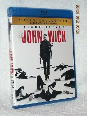 John Wick 2-Film Collection (Blu-ray/DVD, 2019, 4-Disc) NEW Keanu Reeves Common