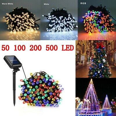 100-500 LED Solar Power Fairy Lights String for Garden Outdoor Party Wedding