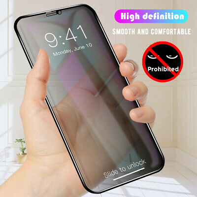 For iPhone X 7 8 XS MAX XR Anti-Peeping Tempered Glass Privacy Screen Protector