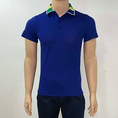 Lacoste Sport Tennis Mens Polo Shirt Jacquard Collar Ultra Dry DH2116 XS Blue