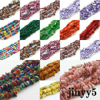 "Shell Natural gemstone loose beads strand Chips For Jewelry Making 15.5""/31.5"""