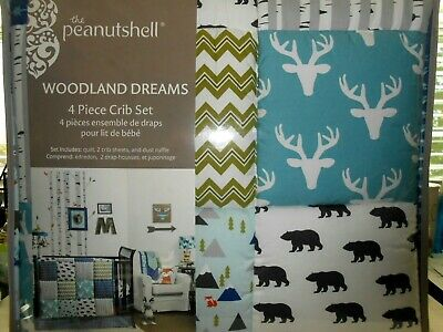 New In Box The Peanut Shell Woodland Dreams 4 Piece Baby
