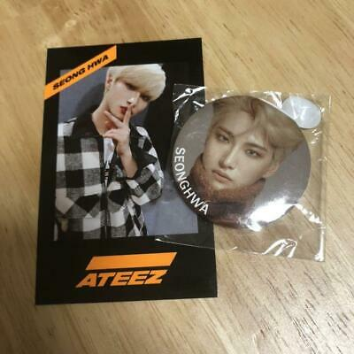 ATEEZ Seonghwa Official Photocard & Pin badge set KCON 2019 FC fanclub