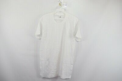 New Vtg 90s Jockey Mens Medium Thin Cotton Soft Short Sleeve Blank Shirt White