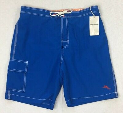 c9d3d1812b TOMMY BAHAMA Swim Trunks L Large Baja Beach Santorini Blue New Beach Wear  NWT