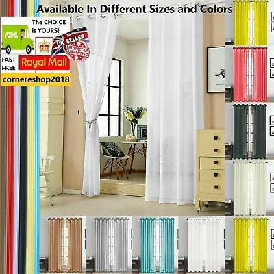 Eyelet Ring Slot Top Voile Rod Panel Net Voile Window Door Single Curtain