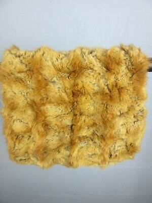 "VINTAGE RETRO BROWN FUR HAND MUFF FULLY LINED WIDTH 11"" LENGTH 10"" m46"