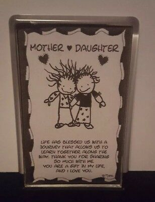 Mother Daughter Poem Fridge Magnet Birthday Gift