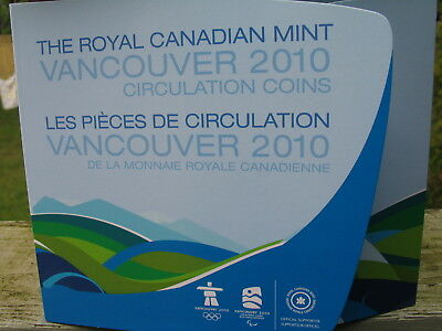 2010 Vancouver  winter Olympic   17 coins set Canada mint Folder Uncirculated