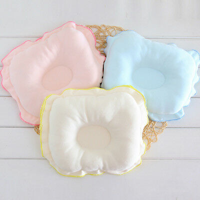 FJ- JN_ Newborn Infant Baby Anti Roll Baby Pillow Prevent Flat Head Neck Support