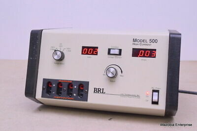Brl Life Technologies Research Products Model 500 High Current Power Supply