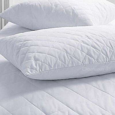 Pillow Protector - Quilted - Cotton Fill - Zip closure - Twin Pack