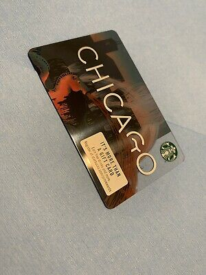 starbucks chicago city card 2019 with - sign