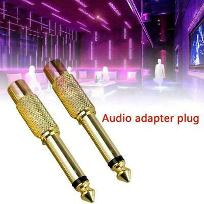 "2Pc 635mm 14"" Mono Male Jack to RCA Female Plug Audio-Adapter-Cable-Converters"