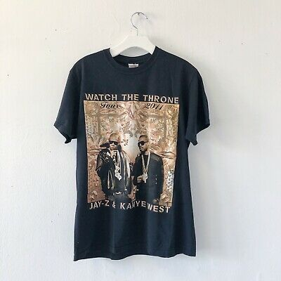 Sz. M Jay-Z Kanye West 2011 Watch The Throne Tour T-Shirt Size Double Sided