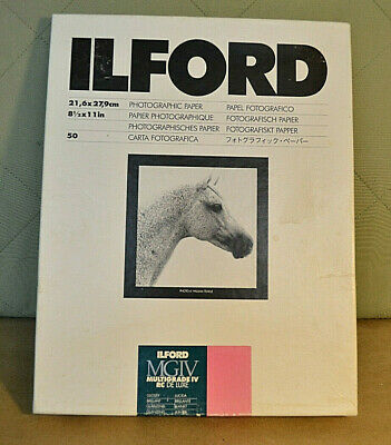 ⭐️ Ilford 8-1/2 x 11 Multigrade IV RC Deluxe Photo Paper Glossy 50 Sheets NEW⭐️