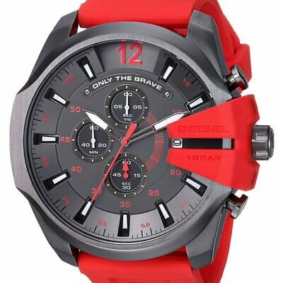 Diesel DZ 4427 Mens Mega Chief Red Silicone Band Watch