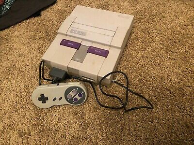 SUPER NINTENDO ENTERTAINMENT SYSTEM CONSOLE CONTROL DECK Untested Parts Repair
