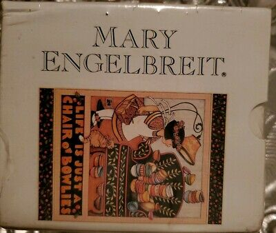 Mary Engelbreit LIFE IS JUST A CHAIR OF BOWLIES Coffee Mug Book Set New