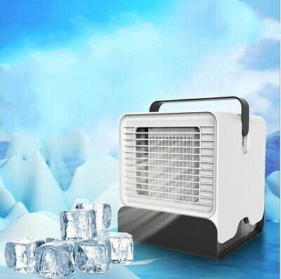 Latest Mini Air Conditioner Home Office Portable USB Cooler Fan Personal Desktop