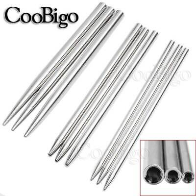10X Stainless Steel Paracord Needle3~5mm Hole Lacing Knitting Shaft Tip Stiching