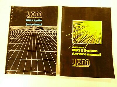 jpm mps1 and mps2 fruit machine techincal manuals