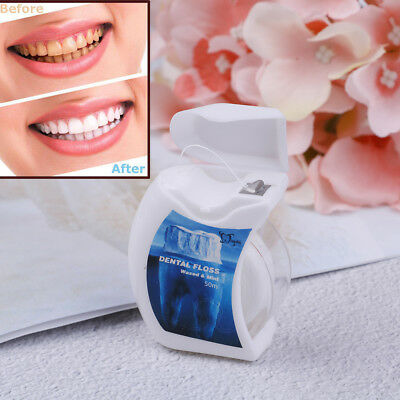 Huge 50M Oral Care Teeth Flosser Food Toothpicks Waxed Mint Micro Dental Floss#