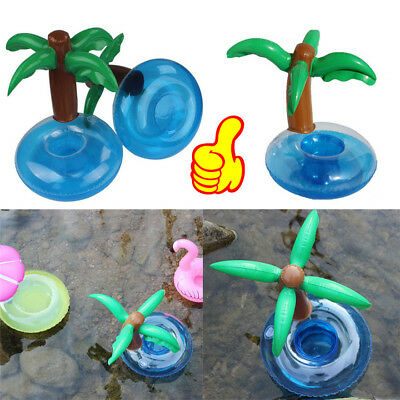 Inflatable Floating Swimming Pool Beach Drink Can Cup Beer Holder Boat Toy OY