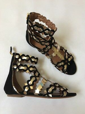 adf258c39e917 ALAIA BLACK LASER Cut Suede Sandals 1450$regular fits so sexy and ...