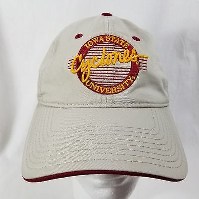 huge selection of d4446 f0854 Vintage The Game Iowa State University Cyclones Ncaa Khaki Snapback Dad Hat  Cap