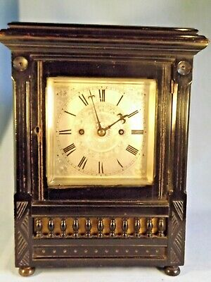 """Arts & Crafts"" Double Fusee Bracket Clock ""Desbois"" London."