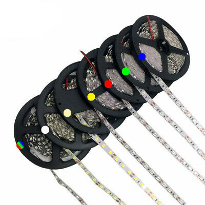 5m LEDs SMD3528 5050 Flexible Led Strip W WW Blue Green Red RGB cuttable strips