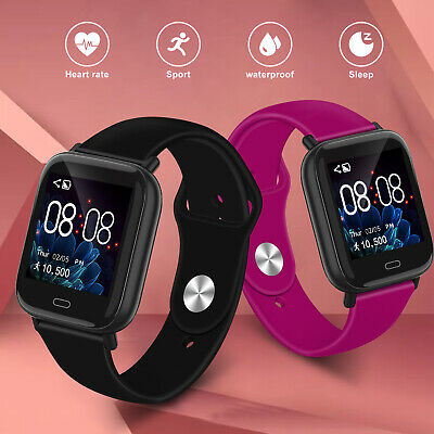 Fitness Smart Watch Activity Tracker Women Men Kid for Android iPhone Heart Rate