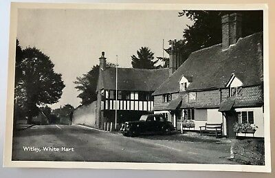 TP7644 - SURREY - The White Hart Pub, and Cottage in 1968