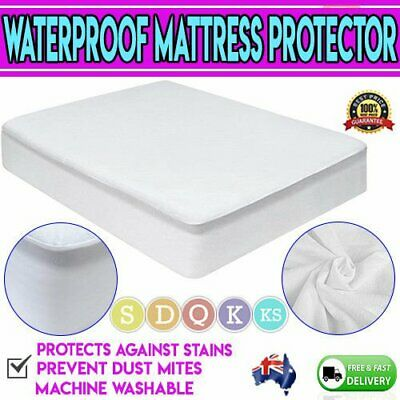 Cotton Terry Mattress Bed Matress Protector Waterproof Single King Queen Double