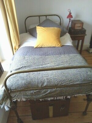 Antique brass single bed