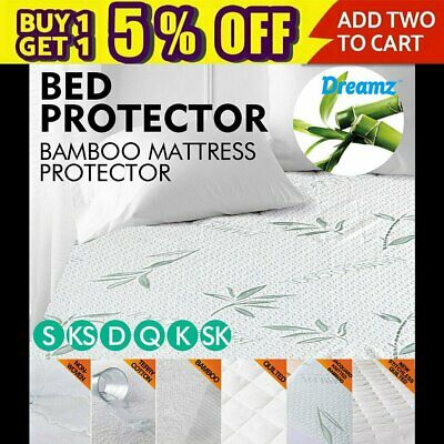Luxury Mattress Protector Waterproof Fully Fitted Sheet Cover All Size