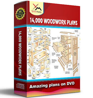 14,000 Woodwork Plans On Dvd - Shed Summer House Cabins Toys Rabbit Hutch +