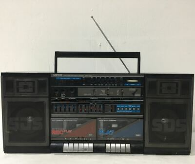 Super Rare SANKEI TCR-68 Boombox w Inbuilt Drum Machine