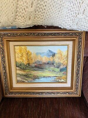Mountain Brook Oul Painting By New Mexico Listed Artist Alice Ray